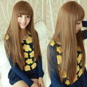 Cute Brown Long Straight Wig For Women