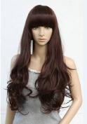 Romantic Long Curly Hair Wig Brown