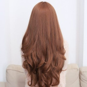 Romantic Long Curly Hair Wig Light Brown