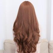 Romantic Long Curly Hair Wig Light Brown