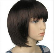 Short Brown Natural As Real Hair Wig for Women