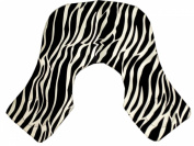 ZZZRT White Zebra Print barber Hairdressing Collar Extra Long