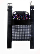 ZZZRT ZS-1006 New Professional Hairdressing Scissors Shear Diamonds Wallet Holster holder pouch Black Colour