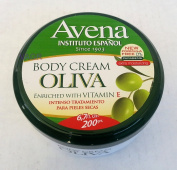 Avena Oliva Body Cream With Vitamin E.. Extra Moisturising. 200ml.. amtc