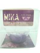Mika Soap And Body Buff - Plum Struck