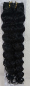 46cm Colour:jet Black (#1) Deep Wave Brazilian Virgin Remy Hair Wefts - 100% Raw Virgin Human Hair Weave