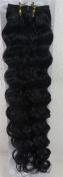 46cm Colour:jet Black (#1) Deep Wave Brazilian Virgin Remy Hair Wefts - 100% Raw Virgin Human Hair Weave