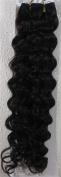 46cm Colour:natural Black (#1b) Deep Wave Brazilian Virgin Remy Hair Wefts - 100% Raw Virgin Human Hair Weave