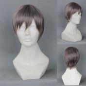 Short Layered Free! Aiichirou Nitori Grey Anime Cosplay Wig