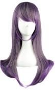MapofBeauty Harajuku Style Mixed Purple/ Grey Long Straight Cosplay Wig
