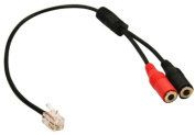 Pc Computer Stereo Headset Dual 3.5mm to Cisco Phone Rj9/Rj10 Phone Jack Adapter Converter for Cisco Ip Phone 7940 7941 7960 7961 7945 and More