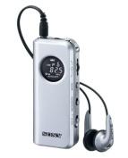 SONY FM stereo / AM radio pocketable Silver M98 SRF-M98 / S