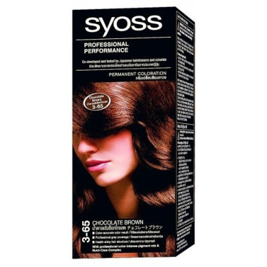 syoss hair permanent coloration no3 65 chocolate brown - Syoss Coloration