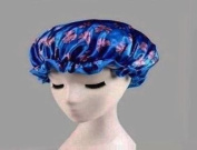Beautiful home high quality Double-deck waterproof shower cap/Thicken multicolor printing shampoo caps