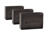 Latika Natural Charcoal Soap, 3 Bars
