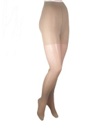 GABRIALLA Sheer Pantyhose, Compression (20-22 mmHg) Beige, Queen Plus