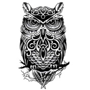 Cool Owl Pattern Tattoos Body Tattoo Stickers Waterproof Temporary Fake Tattoos
