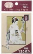 Japanese Premium Oil Blotting Paper 120 Sheets Large 10cm x7cm