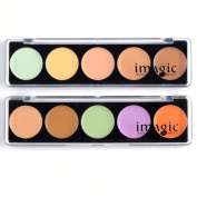 Top Plaza 1x Professional Camouflage Palette, Concealer Palette Cream Cheap,esp. for Medium/ Dark Skin, 5 colour
