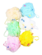 Set of 6 - Mesh Sea Sponges Bath Scrubber