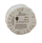 Bay Rum All Natural Handmade Shave Soap - New Formula, 90ml