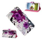 Nicerocker Butterfly Flower Wallet Stand Flip Leather Case Cover For Samsung Galaxy S4 IV i9500