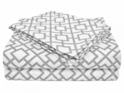 American Baby Company 100% Cotton Percale Toddler Bedding Sheet Set, Grey Lattice, 3 Piece