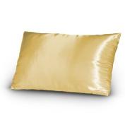 Set of 2 (Pair) Satin Silky Lingerie Bed Pillowcases Queen/Standard Gold Bronze