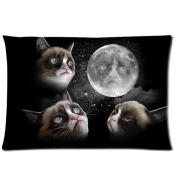 Custom Grumpy Cat Pillowcase Standard Size Design Cotton Pillow Case