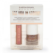 "Kardashian Beauty ""See You In Sequins"" Shimmer Lip Gloss and Nail Polish Sparkler 351"
