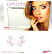 Peekaboos Eye Crystals Purple Stars Tattoo Temporary Self Adhesive