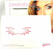 Peekaboos Eye Crystals Red Pink Wings Tattoo Temporary Self Adhesive Flames