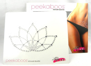 Peekaboos Intimate Sparkle Crystal Clear Lotus Flower Tattoo Temporary Intimate Self Adhesive
