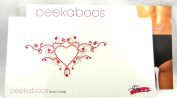 Peekaboos Intimate Sparkle Crystal Red Heart Tattoo Temporary Intimate Self Adhesive