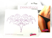 Peekaboos Intimate Sparkle Tribal Crystal Tattoo Temporary Intimate Self Adhesive