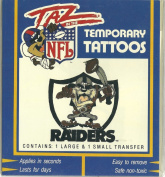 Taz in the NFL Oakland Raiders Temporary Tattoos