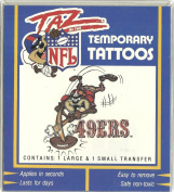 Taz in the NFL San Francisco 49ers Temporary Tattoos