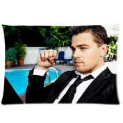 Custom Fashionable Leonardo Dicaprio Queen Size Rectangle Pillow Cases 50cm *80cm