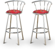 New Spiderman Themed Fabric Swivel Seat Counter Height Bar Stools! 60cm Seat Height with a Chrome Finish