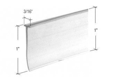 CRL Clear T Type Shower Door Bottom Seal And Wipe 90cm Long By