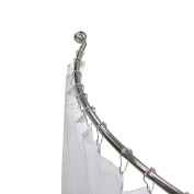 Elite Home Fashions Simple 3-in-1 Curved Shower Rod