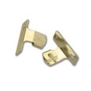 Graber Sash Cafe Curtain Rod Brackets, Brass, 1 Pair