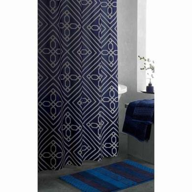 Curtains Ideas apt 9 shower curtain : Apt 9 Blueprint Geo Fabric Shower Curtain Pretty Blue Geometric ...