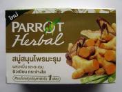 Parrot Herbal Moringa + Turmeric + Liquorice Bar Soap 100g Product of Thailand