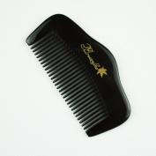 Mini Hill Shaped Pocket Black Buffalo Horn Comb