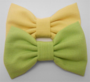 2 Pack, Fabric Hair Bows.