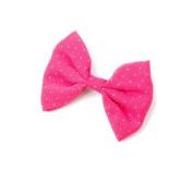 Chiffon Polka Dot Bow Hair Clip.