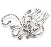 Elegance Collection - Bridal Comb, Rhinestone Swirl Wedding Comb