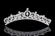 Flower Girl Bridesmaid Ballerina Tiara Comb - Crystal Bead and Rhinestones T998