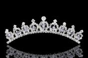 Princess Flower Girl Ballerina Tiara Comb - Crystal Bead and Rhinestones T999
